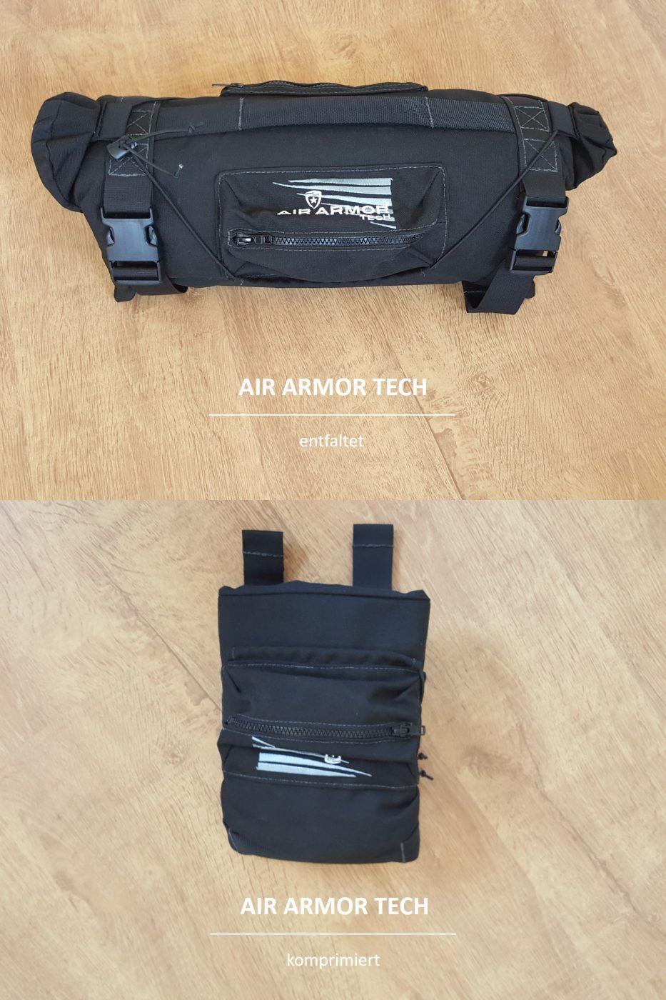 Air Armor Tech Scope Cover entfaltet u. komprimiert