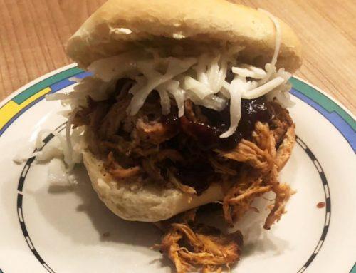 Wildschwein Pulled Pork Burger