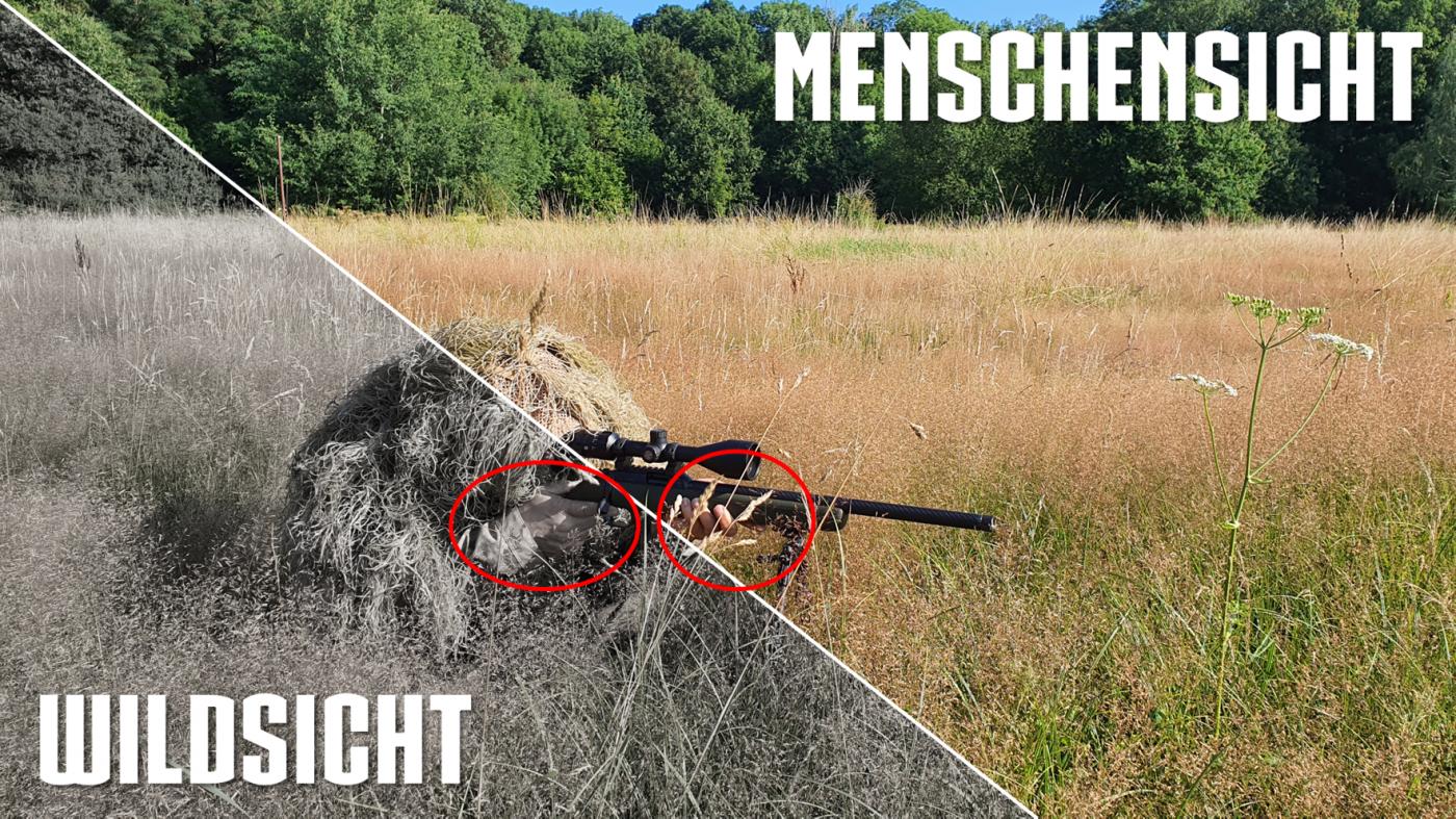 Tarnung auf der Jagd, Hände und Gesicht